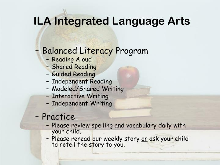 ILA Integrated Language Arts