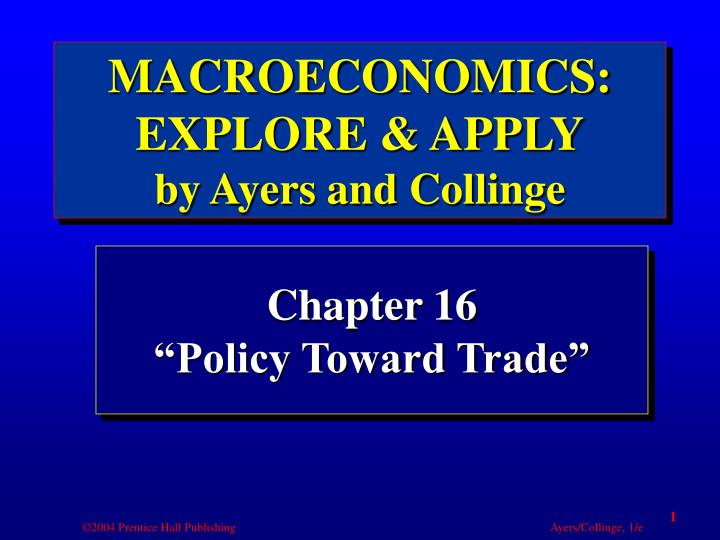 chapter 16 policy toward trade n.