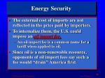 energy security