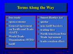 terms along the way