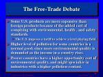the free trade debate