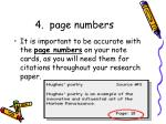 4 page numbers