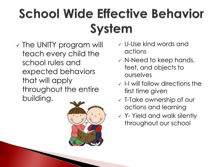 School Wide Effective Behavior System