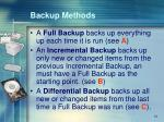 backup methods