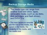 backup storage media