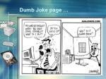 dumb joke page