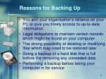 reasons for backing up