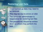 restoring lost data