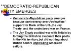 democratic republican party emerges