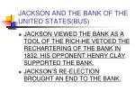 jackson and the bank of the united states bus