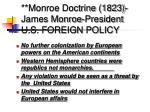 monroe doctrine 1823 james monroe president u s foreign policy