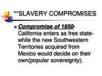 slavery compromises1
