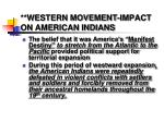 western movement impact on american indians