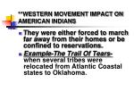 western movement impact on american indians1
