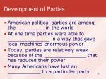 development of parties1