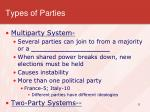 types of parties