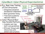 cybermech cyber physical experimentation