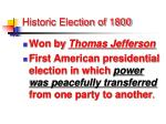 historic election of 1800
