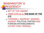 washington s presidency