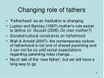 changing role of fathers