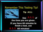 remember this testing tip10