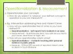 operationalization measurement