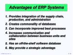 advantages of erp systems