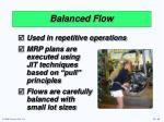 balanced flow