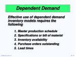 dependent demand1