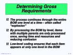 determining gross requirements2