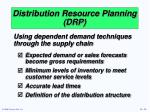 distribution resource planning drp