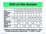 eoq lot size example