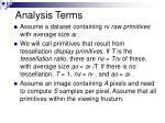 analysis terms
