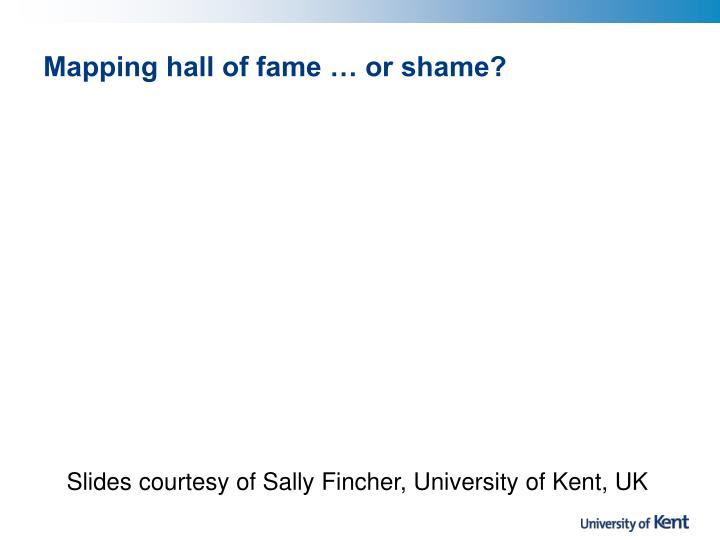 mapping hall of fame or shame n.