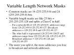 variable length network masks