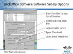 backoffice software software set up options