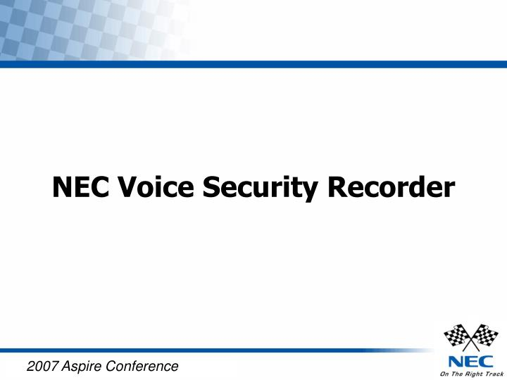 nec voice security recorder n.