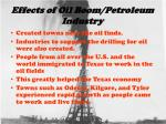 effects of oil boom petroleum industry
