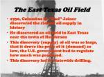 the east texas oil field