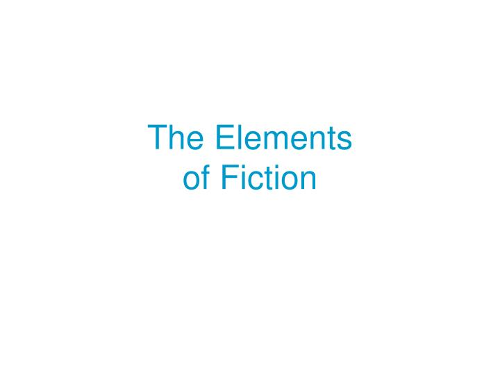 the elements of fiction n.