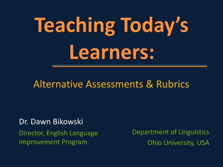teaching today s learners n.