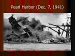 pearl harbor dec 7 19411