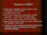 texans in wwii