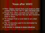 texas after wwii