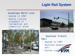 light rail system