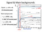 signal main backgrounds