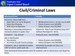 civil criminal laws