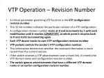 vtp operation revision number