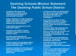 ossining schools mission statement the ossining public school district