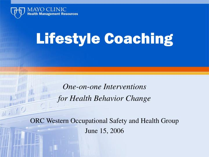 lifestyle coaching n.